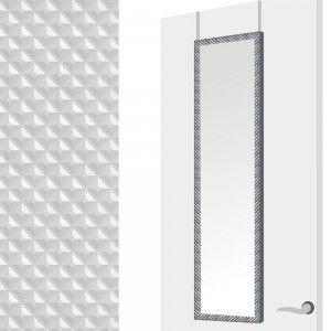 Espejo para puerta con formas geométricas, color plata