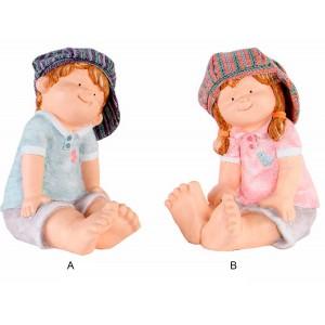 Figure of Children of fiberglass. 2 models