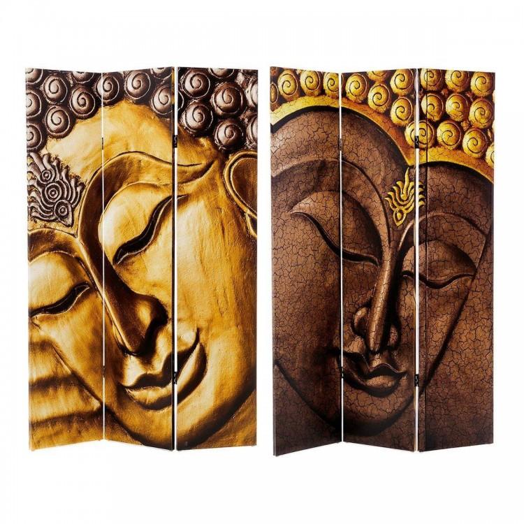 Biombo de 3 paneles Buda Lienzo