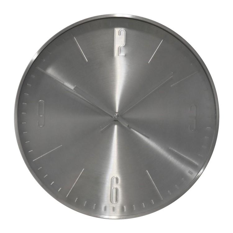 Reloj de Pared de Aluminio. Plata