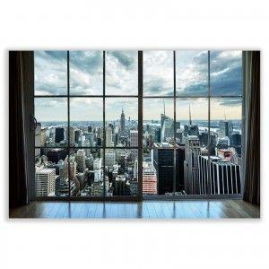 Box fotoimpresión on canvas , mounted on wooden frame of fir, New York