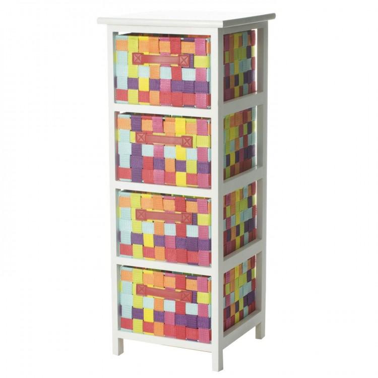 Mueble de madera de cuatro cajones mulicolor hogar y m s for Cajones de madera para muebles