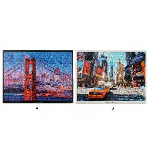 Paintings on canvas of Wood. New York