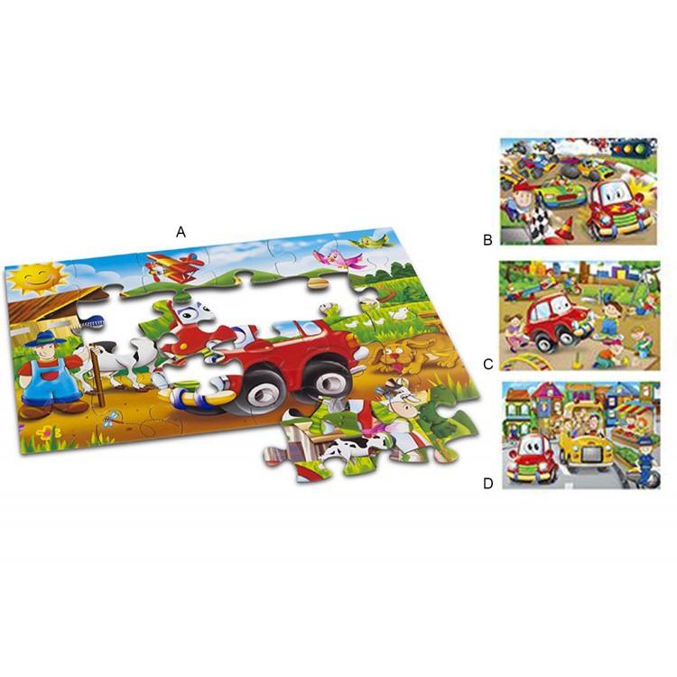 Puzzle Infantil de Coches. 4 modelos