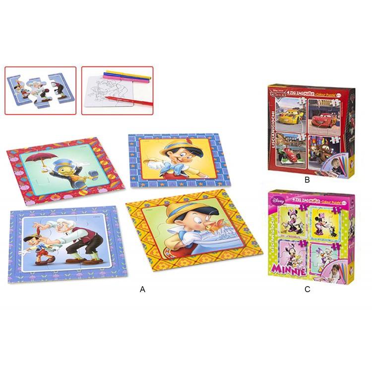 Puzzle Infantil Coloreable Set de 4 unidades en 3 modelos diferentes