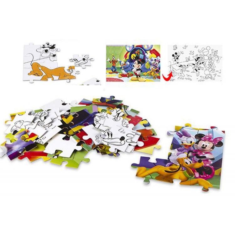 Puzzle Coloreable 2 caras. 60 piezas