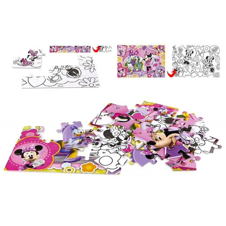 Puzzle Infantil Coloreable 2 caras. 60 piezas