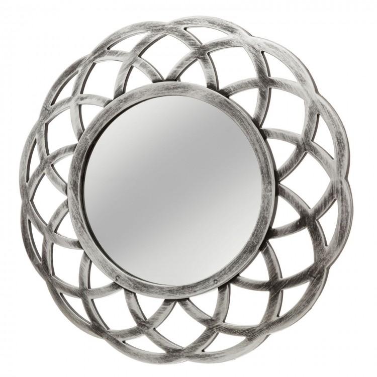 Espejo circular plateado realizado en polipropileno