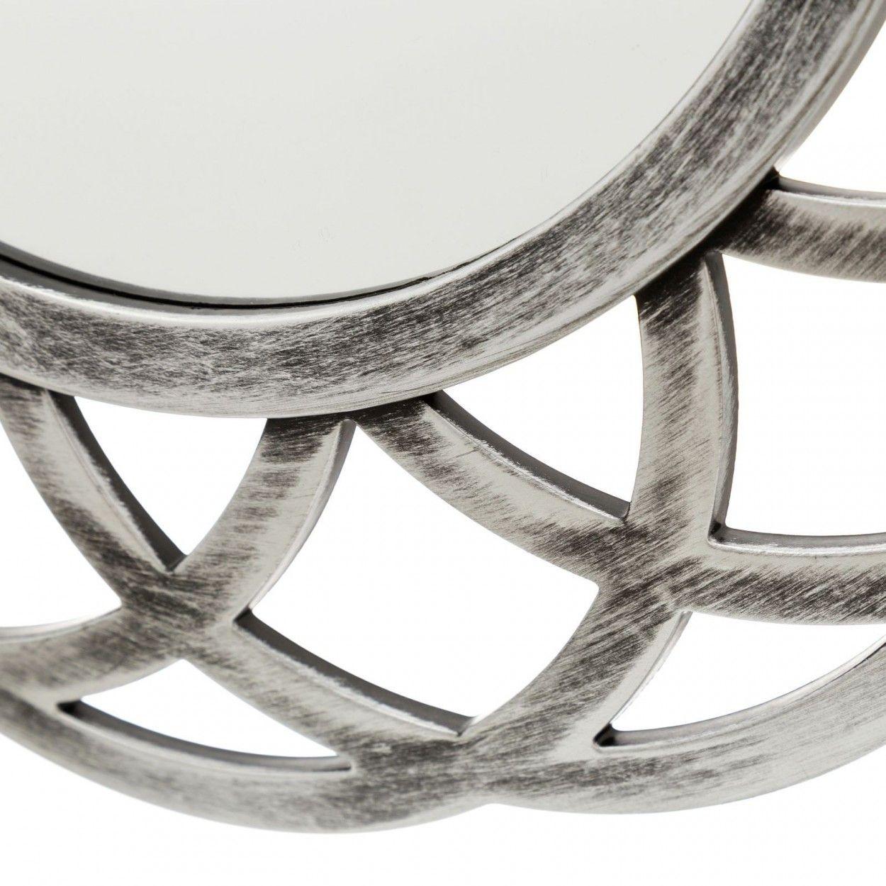 Espejo circular plateado realizado en polipropileno for Espejo circular