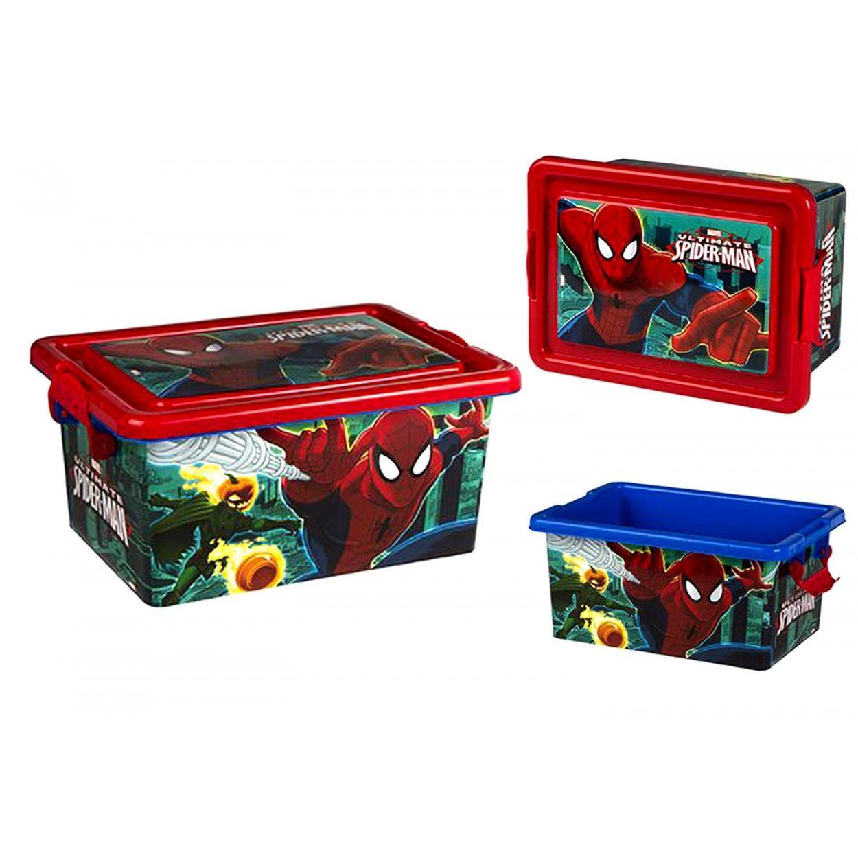 Caja de spiderman para ordenaci n hogar y m s - Cajas de ordenacion ...