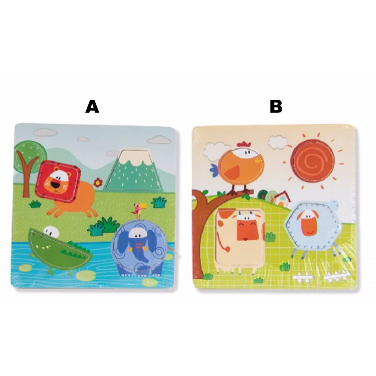 Puzzle infantil de madera animales