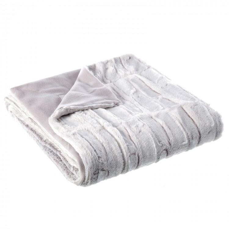 Manta sofá en color gris