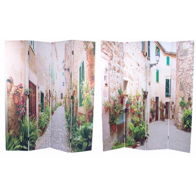 Biombo de fotoimpresión sobre lienzo reforzado de cuatro paneles