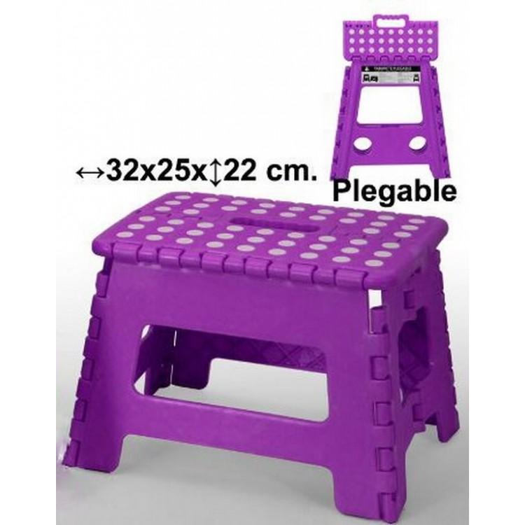 Taburete plegable violeta, Hogar y Mas