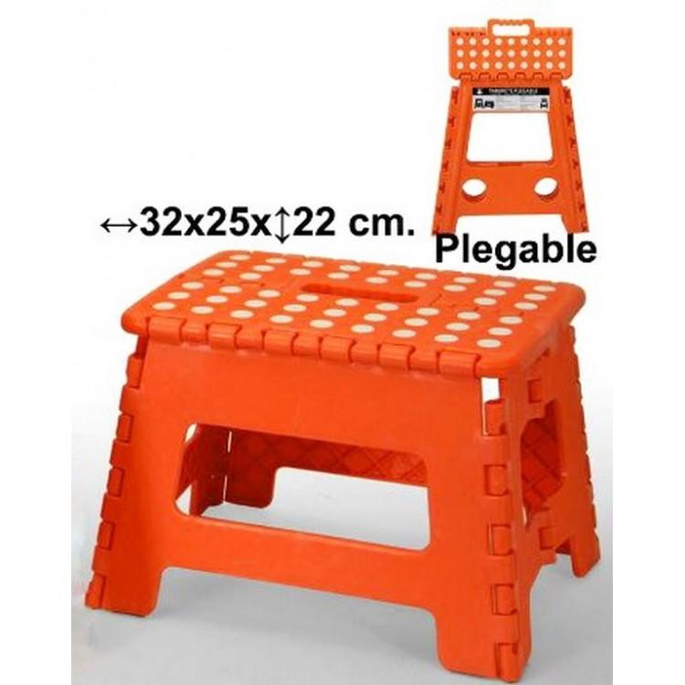 Taburete plegable naranja, Hogar y Mas