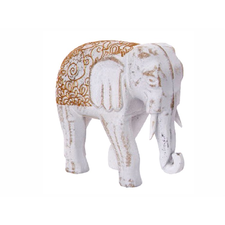 Elefante de Madera Decape para decoración
