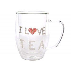 Mug for Infusions Glass Borosilicate. Double