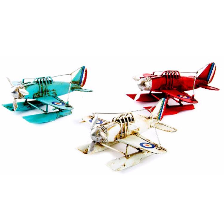 Avión de Metal para decoración. 3 colores