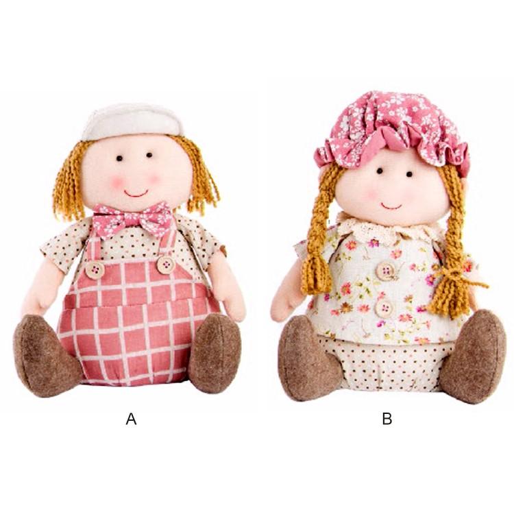 Muñecos de niño y niña de tela. 2 modelos