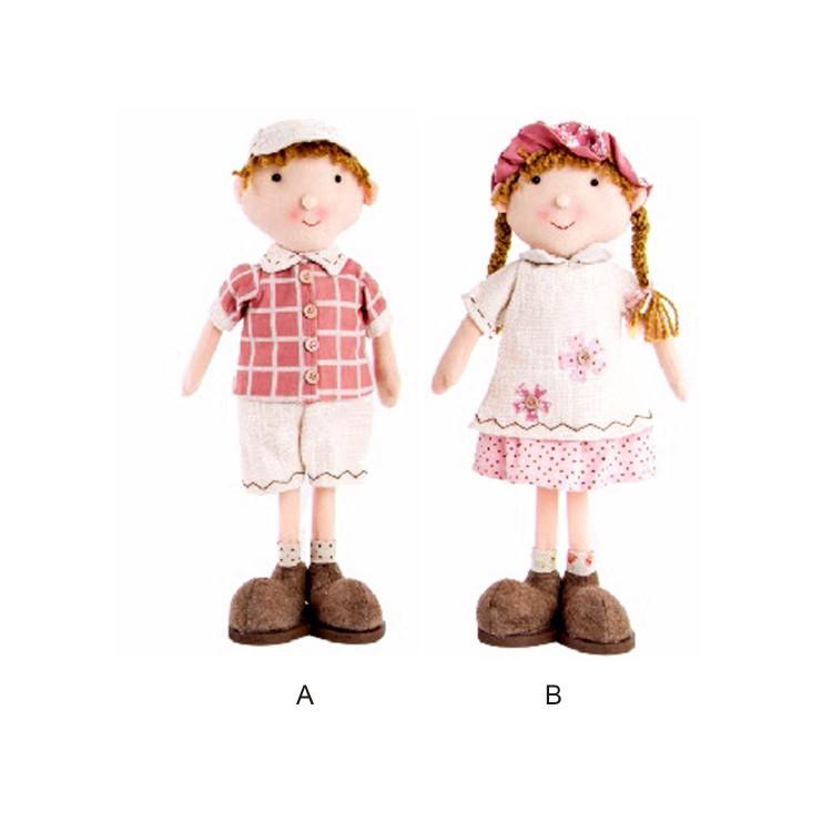 Muñecos infantiles de niño y niña de tela