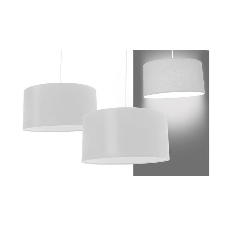Lámpara para techo redonda blanca