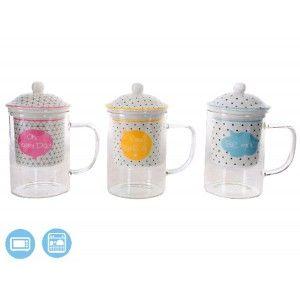 Tazas de colores para infusiones de Porcelana y Cristal