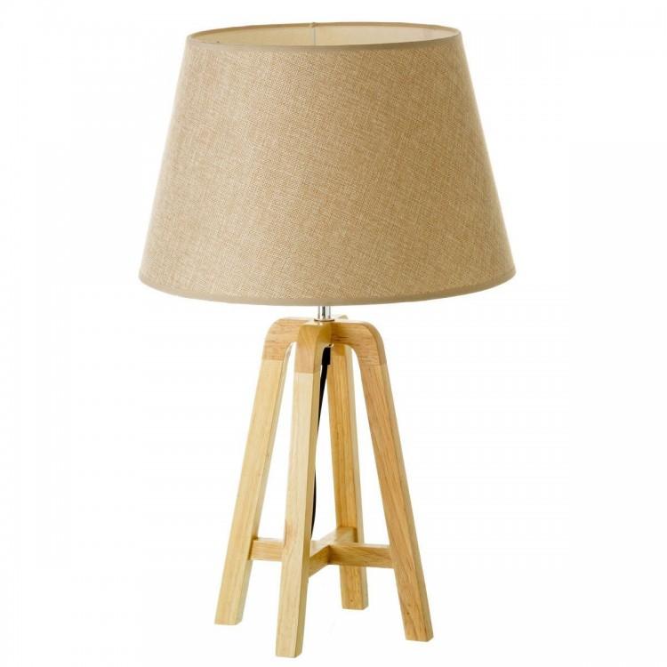 Lámpara de mesa o suelo de madera natural