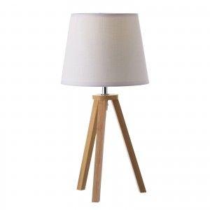 Lámpara de madera de color blanco