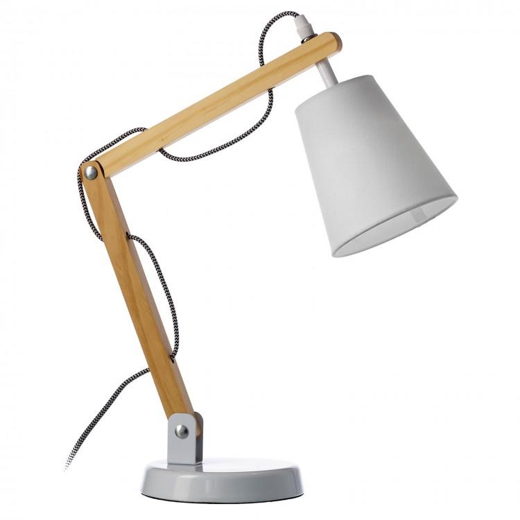 Lámpara de Escritorio blanca de madera