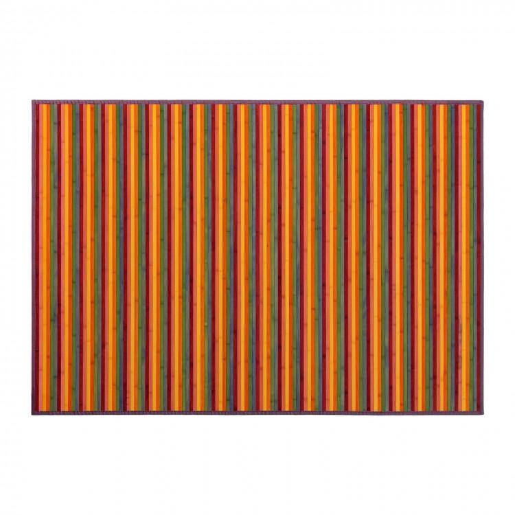 Alfombra grande de Bambú Multicolor