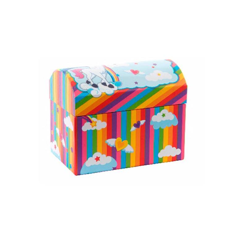 Joyero multicolor de Unicornios con Espejo