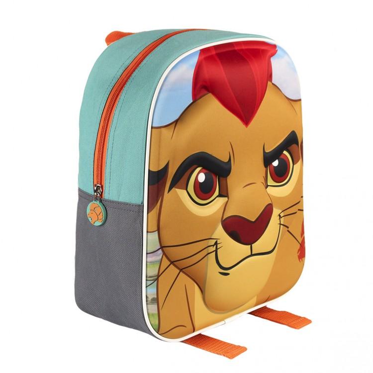 Mochila Infantil con Diseño en 3D de una Imagen de Lion Guard.
