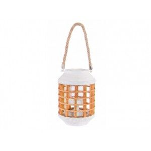 Streetlight of Bamboo Wood with White Rope