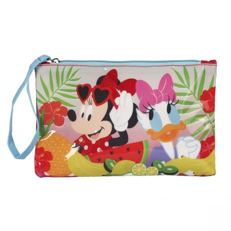 Neceser de Minnie Mouse y Daisy, con Cremallera con Asa. Diseño Infantil, con estilo Tropical - Hogar y Más