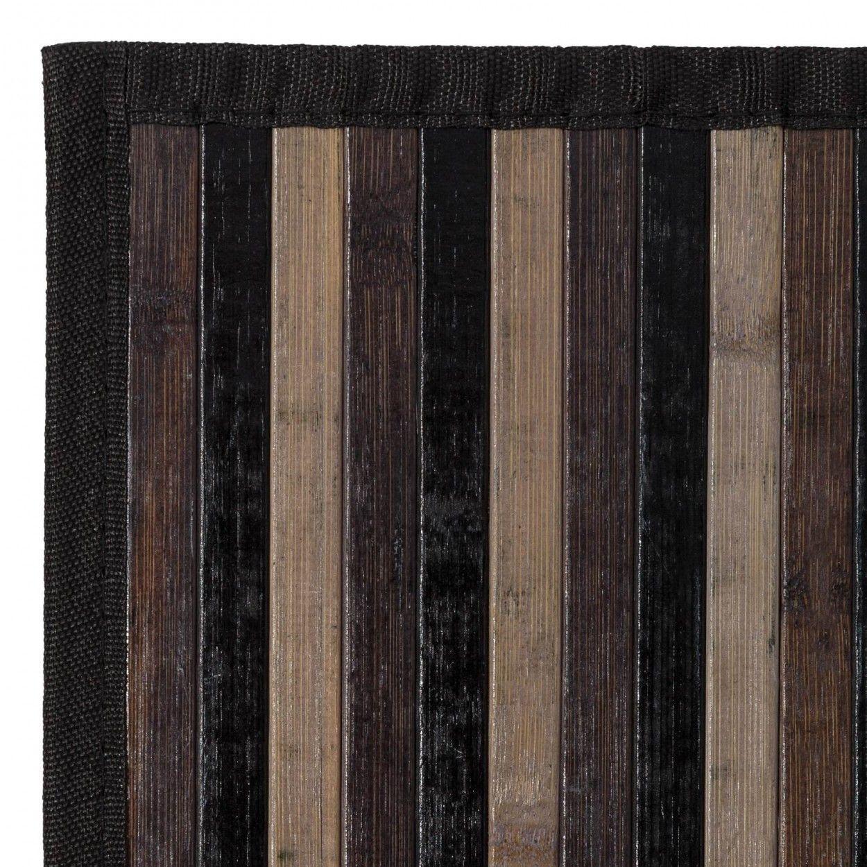 Comprar alfmbra de bambu con rayas en tono gris hogar y mas - Alfombras bambu colores ...