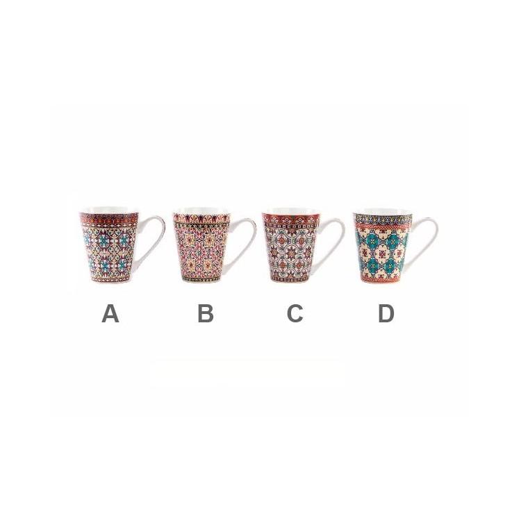 Taza de caf dise o de azulejos de colores en cer mica 4 modelos hogar y m s - Tazas de cafe de diseno ...