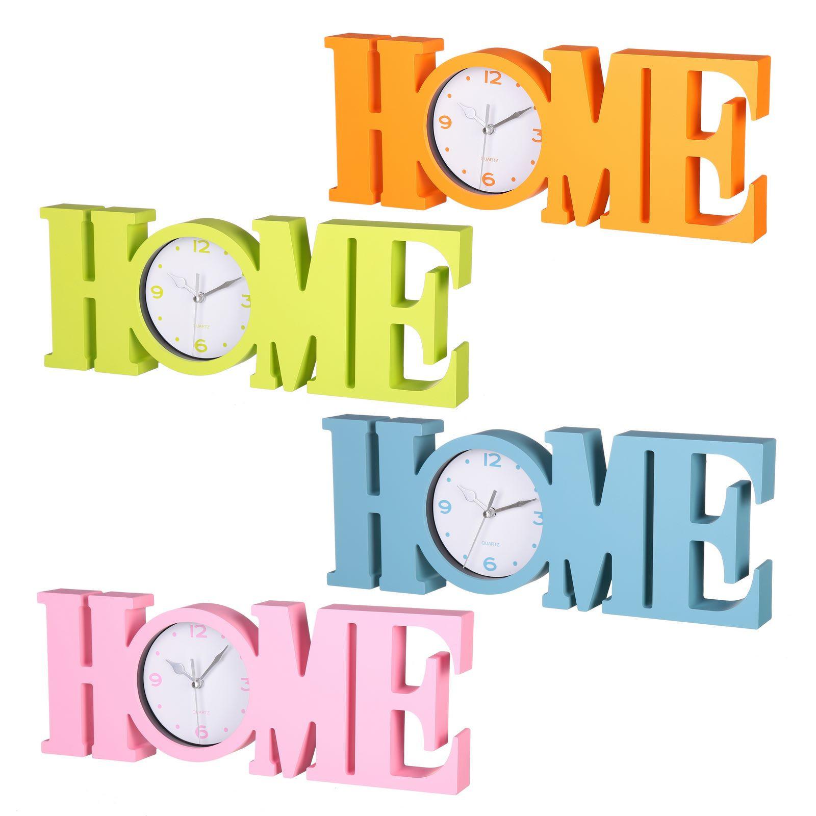 """Reloj """"HOME"""" de PVC Cuatro colores diferentes"""