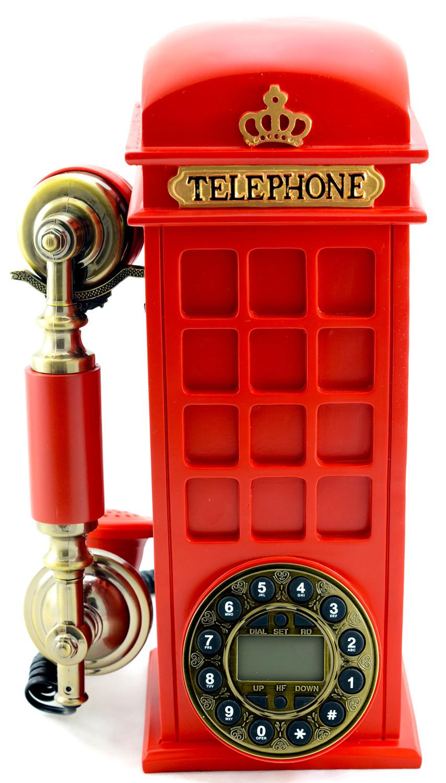 Teléfono con forma de cabina telefónica de Londres