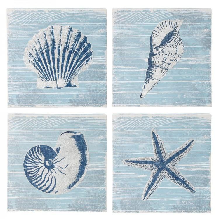 Cuadros decorativos de fotoimpresión en lienzo con motivos marinos. Hogar y mas