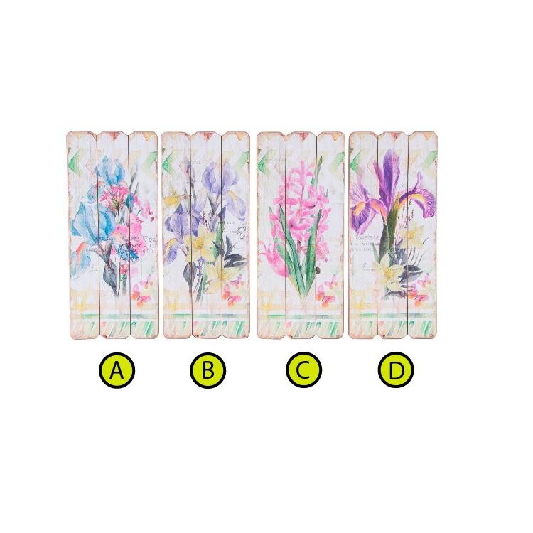 Cuadro decorativo para salón de madera decorado con flores Hogar y mas