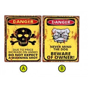 Cuadro original de metal Danger