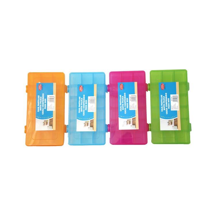 Pastillero de Colores Caja de Pastillas-Píldoras
