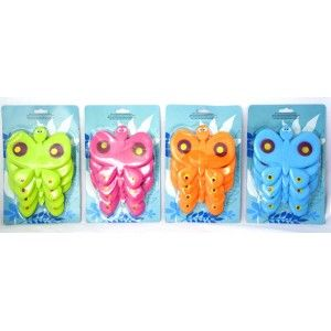 Set of 4 Cheerful Cups with Butterfly Shape