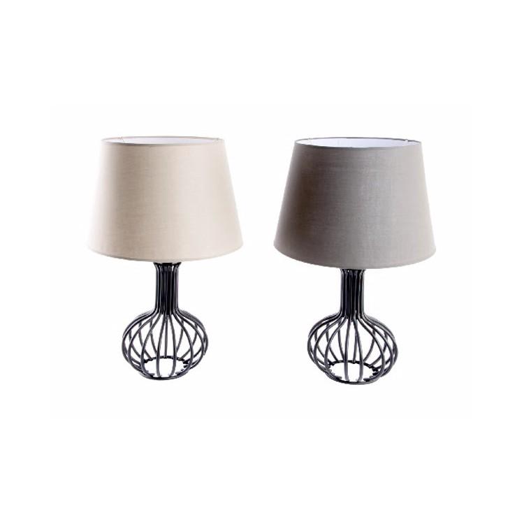 Lámpara de Mesa de Diseño en Metal y Poliéster