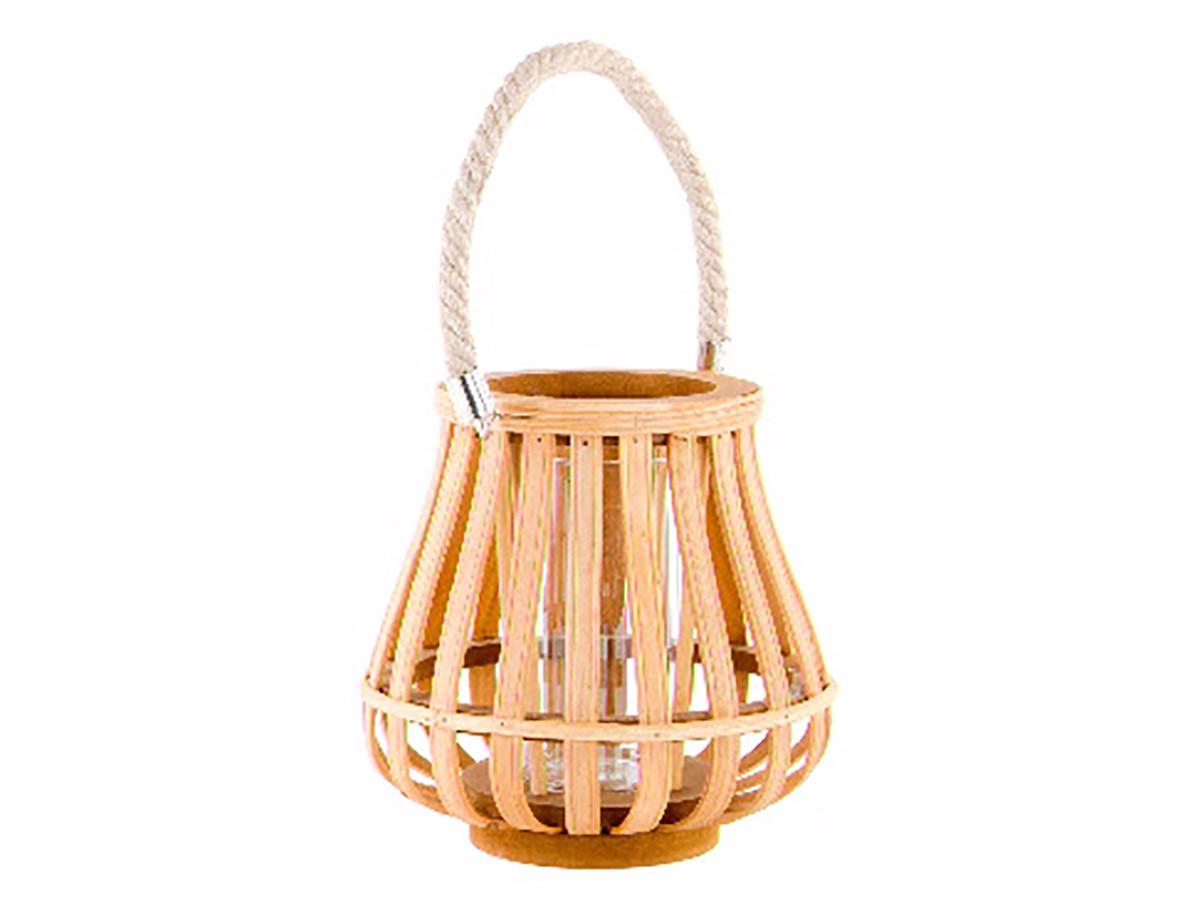 Portavelas de Bambú Natural de Diseño Original