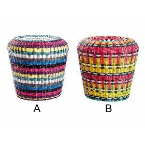 Puff Fun Ethnic Design in Leatherette Colors