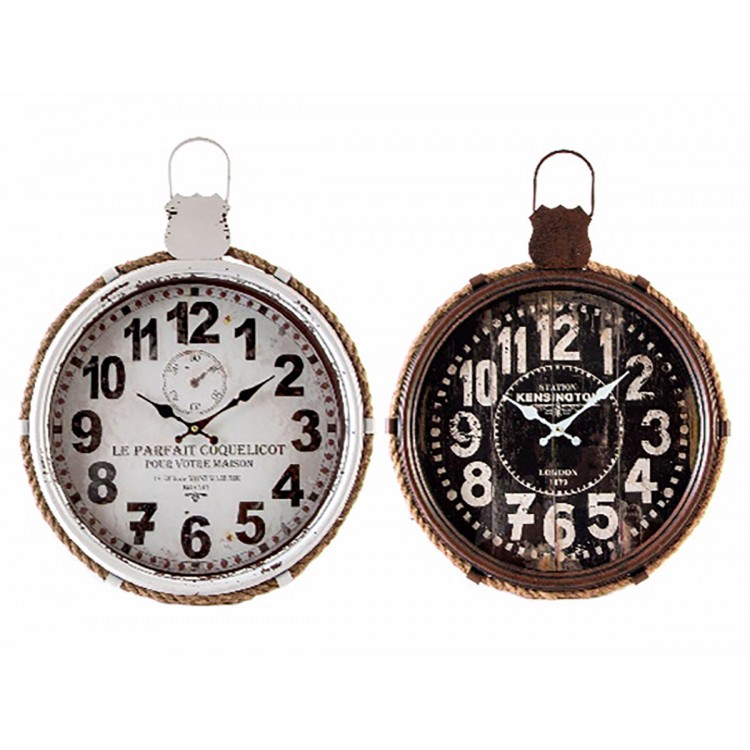 Reloj de Pared Vintage de Metal