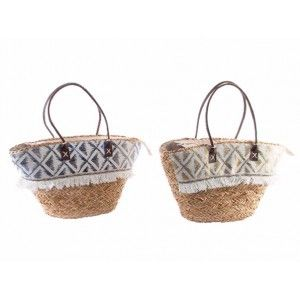 Bag Wicker Natural Ethnic Design