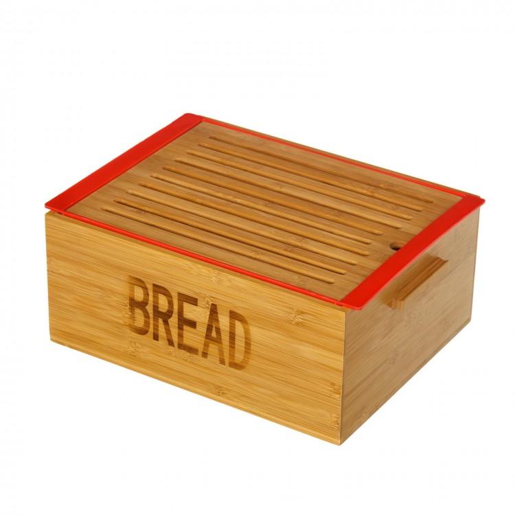 Caja Pan de Bambú Natural con Bandeja