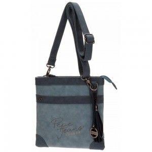 Shoulder Bag Pepe Jeans Elegant Blue Color
